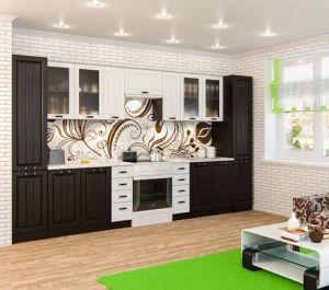 Кухня МДФ ПР-05 Белое дерево/Венге премиум